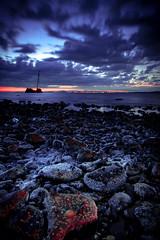 balast bank rocks (Mike Hind Photography & Photo Training) Tags: bridge water landscape scotland rocks edinburgh waves forth nd ayrshire forthrailbridge cokin balastbank