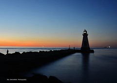the outer lighthouse in port dalhousie (Rex Montalban Photography) Tags: sunset niagara stcatharines portdalhousie nikond7000 rexmontalbanphotography lighthousie