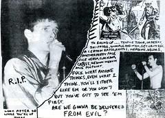 Ian Curtis picture (stillunusual) Tags: music punk indie joydivision 1980 postpunk staines iancurtis sidvicious panache fanzine adamant betterbadges punkzine punkfanzine mickmercer