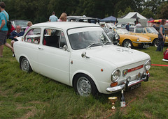 1973 Fiat 850 Abarth (Trigger's Retro Road Tests!) Tags: show classic sports car festival hall suffolk fiat august 1973 2012 850 abarth helmingham