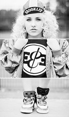 Triptych sereis   EDUCATE&ELEVATE (bang*) Tags: portrait fashion print flygirl 90s style streetstyle homegirl hightops sneakers triptych cap hat brooklyn ee markivkovic bangphotography manchester uk england leica m82 leicam8 leicam82 voigtlander 50mm nokton f11 woman girl model female