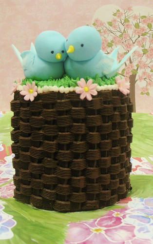 [Image from Flickr]:Lovebirds- Engagement cake