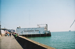 Clarence Peir, Southsea, Portsmotuh (old_skool_paul) Tags: ocean trip travel light sunset sea summer vacation england orange sun fish storm love film beautiful sunshine port docks photoshop 35mm canon walking lunch boats evening amazing fishing perfect raw day quiet fuji natural good no great grain hipster august super calm chips iso used 200 solent m42 portsmouth vans times 28 5000 leak expired pure dicks channel supreme southsea englsih camber noediting cosham nolightroom tumblr traverner