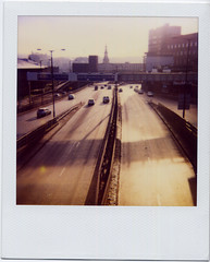 winter city (ed___209) Tags: road city urban colour polaroid roads nonplace