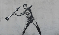 Banksy Olympic Javelin Thrower