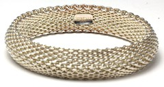 1064. Sterling Silver Mesh Bangle, Tiffany & Co.