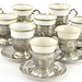 Lot 2027. Assembled Set of Sterling Silver Demitasse Cups