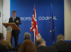 PM at European Council March 2014 (The Prime Minister's Office) Tags: uk brussels london pm primeminister davidcameron eucouncil