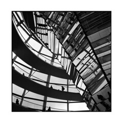 reflexion • berlin, germany • 2013 (lem's) Tags: berlin rolleiflex germany shadows parlement bundestag reflexion allemagne reflets planar ombres coupole mirors miroirs