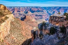 Morning at Bright Angel Trail - Grand Canyon (danielacon15) Tags: morning light arizona usa rock angel walking landscape outdoors nationalpark interesting rocks bright grandcanyon south erosion whole trail geology rim
