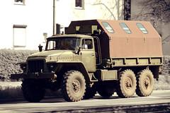 Ural - 375D on the Road (MR-Fotografie) Tags: old 50mm nikon alt historic east ddr nikkor gdr nostalgie armee cccp ural militr nva lkw historisch 18d hallesaale russland russisch udssr sowjetunion ostblock d7100 mrfotografie 375d