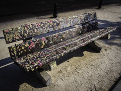 The Second Life (Marina Reef (away for a while)) Tags: streetart bench funny curious chewinggum