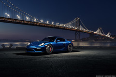 Porsche Cayman GT4 for Avant Garde Wheels (Richard.Le) Tags: lighting city blue light 2 ice night painting island photography bay san francisco treasure sony wheels automotive le commercial richard porsche ag area motor cayman westcott function avant garde carrera sapphire gt4