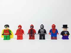 For Sale/For Trade (description for details) (gmanwease) Tags: lego minifigures for sale trade batman 2006 old official robin penguin symbiote black spiderman not christo microkraft custom carnage daredevil netflix charlie cox matt murdock civil war captain america poppunkmunky poppunkmonkey minifig madness scott simon minifigure