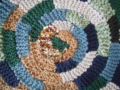 pannello/tappeto spirale (stranelane1) Tags: spiral carpet knitting panel knit knitted spirale maglia pannello