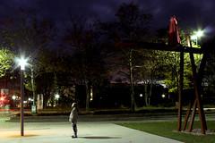 Like Light to a Fly VIII (Isengardt) Tags: morning light sculpture lamp night canon germany deutschland eos lampe licht early fly europa europe dress nightshot nacht skulptur series conceptual mode morgen serie konzept fliege langzeitbelichtung fellbach frh longtimeexposure kleid badenwrttemberg 550d strasenlaterne