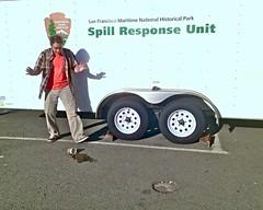 Spill Response Unit (Lynn Friedman) Tags: sanfrancisco paul accident humor drop surprise fortmason spill nationalparkservice outofcontext unintentionallyfunny 94123 lynnfriedman findery spillresponseunit
