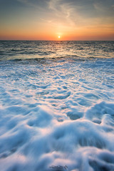 Evening's foam (David TAPIN Photographie) Tags: sunset sea mer france water sunrise canon ciel normandie 1740 coucherdesoleil 6d ecume fecamp seinemaritime