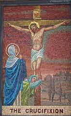 Mosaic (D. Brigham) Tags: religious catholic outdoor mosaic madonna religion catholicism crucifixion eastboston queenoftheuniverseshrine