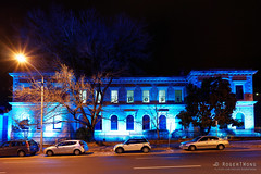 20160618-10-Blue lighting at TMAG (Roger T Wong) Tags: lighting blue night australia tasmania hobart 2016 tmag tasmanianmuseumandartgallery sony1635 rogertwong darkmofo sel1635z sonya7ii sonyilce7m2 sonyalpha7ii sonyfe1635mmf4zaosscarlzeissvariotessart