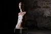 L'Arlésienne (xamolo) Tags: statue modèle model femme women mannequin creepy color usé used chauve bald tabouret stool arles