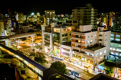 My view from hotel room @ Daiwa Roynet Hotel (Steve Wan^_______________,^) Tags: trip june japan night lens prime hotel shot may fujifilm okinawa naha 2016 daiwa   roynet  x100t