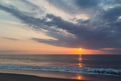 Rabbit Rabbit (with ocean swimmer on left) (aka Buddy) Tags: ocean summer sky beach clouds sunrise waves nj atlantic og seabright 2016