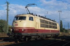 103 235-8  Emmerich  17.10.98 (w. + h. brutzer) Tags: analog train germany deutschland nikon eisenbahn railway zug trains db locomotive 103 lokomotive emmerich elok eisenbahnen e03 eloks webru
