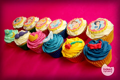 Disney Princess Cupcakes (Baked. Cupcakery) Tags: birthday uk sleeping red party white snow cakes glass girl beauty rose newcastle children gold cupcakes little jasmine north disney aerial east cupcake gift bow belle beast crown cinderella mermaid princes printed slipper aladin baked sunderland cupcakery baurty