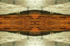 Electric hill. (ADIDA FALLEN ANGEL) Tags: abstract reflection art mirror israel nikon artistic flipped d40