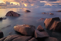 La Digue Twilight (rgarrigus) Tags: ocean longexposure sunset seascape coast indianocean coastal seychelles ladigue tiltshift greatphotographers neutraldensity garrigus robertgarrigus robertgarrigusphotography