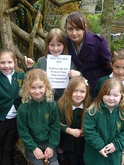 West Ashton School 4, Trowbridge, Wiltshire, England (endoftheicons) Tags: orangutan internationaldayofaction