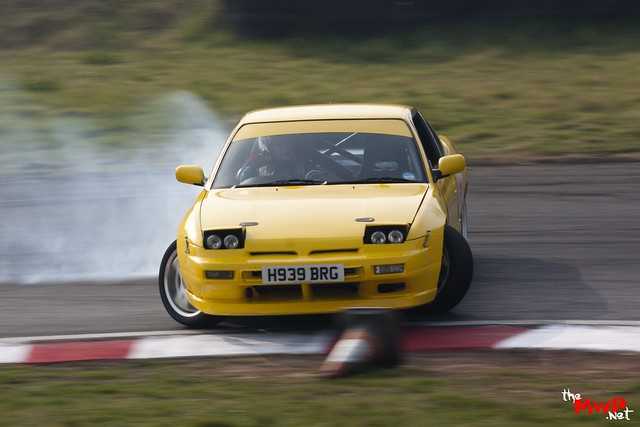 Eddie Amos in his Nissan S13