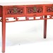 255. Antique Carved and Painted Chinese Temple Table