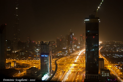 Dubai at night by Dominic Scaglioni, on Flickr