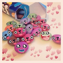 Happy Easter! (cutedesigns) Tags: easter chocolate fun cute kawaii smarties bright pink blue green hearts love