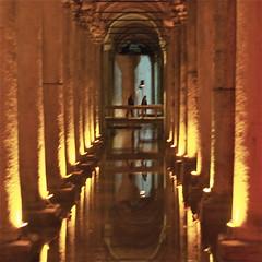 water reservoir (UnprobableView) Tags: water gua istanbul reservoir essential essence cistern gist basilicacistern primordial yerebatansarayi palace unprobableview hagiasophi sunken manuelmiragodinho palacecistern inthecore aayasofya