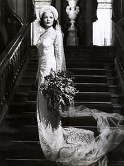Gene Tierney, 1946 (sweetvintagegal) Tags: fashion vintage weddingdress 1946 genetierney
