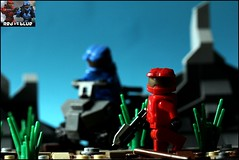 Halo Red vs. Blue (n7mereel) Tags: new blue light red 3 alexandria june canon eos lego space painted 4 rifle halo scene assault led vs reach ba custom combat fp mombasa versus evolved 2012 n7 mereel 60d brickarms odst n7mereel
