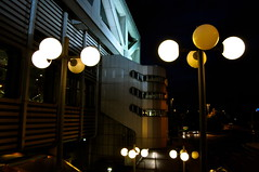 Berlin Metropolis (Blue Rave) Tags: nightphotography light building berlin architecture night germany deutschland lights europa europe nightimages streetlamp illumination illuminated lamppost nightshots icc 2012 iccberlin