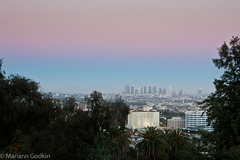Downtown LA skyline at sunset (boginia2) Tags: sunset skyline la losangeles downtown hiking edited transition 2012 runyoncanyon week24 52weekproject ihtsw ihavetoshootwhat 522012 52weeksthe2012edition weekofjune10
