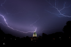 Unexpected Thunderstorm (Can Wong) Tags: world lighting sky people usa cloud storm black tourism monument night america dc washington memorial can capitol national thunderstorm wong friday ye bule
