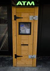 A Fronteir ATM. (Omygodtom) Tags: wood old money look oregon portland lens nikon funny flip trust atm steal 18105 dk7