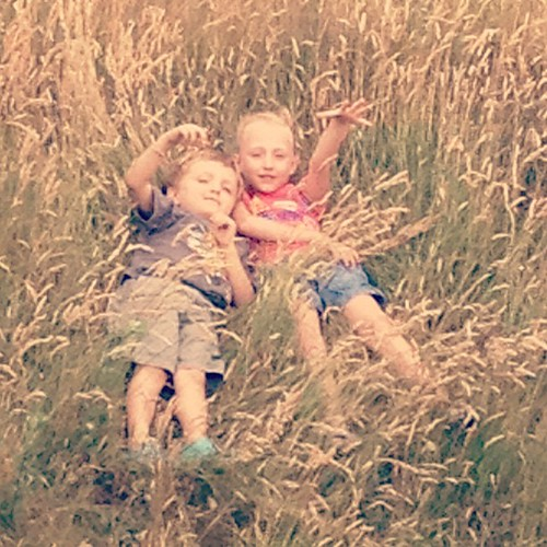 "Lying in the grass, Scarlett said, ""This is like heaven!"" #366/189"