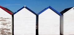 almost (philippa huber) Tags: blue sea sky coast paint devon beachhut flaky paignton englishriviera mygearandme