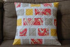 patchwork pillow cover (coco stitch) Tags: quilt patchwork pillowcase pillowcover