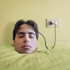 To sleep is charge your mind for another day (Rubn Chase) Tags: electric photomanipulation photoshop photography photo foto head your remove mind chase epic charge rubn fotografa decapitation manipulacin fotomanipulacin carb cs5 freeflyer09