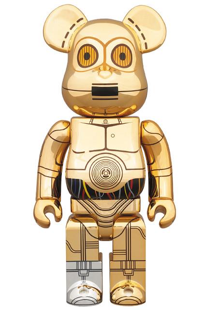 洗金A!BE@RBRICK 400% 電鍍 C-3PO