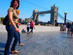 Tower Bridge, London 2012 Olympic Games (Paul-M-Wright) Tags: tower bridge london england uk 2012 olympic games woman river thames united kingdom olympics
