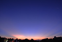 Sunset view from the roof  (by Nikon1 V1) (Capelle Panda -- Be happy!) Tags: sunset sky sunlight  pancake   10mm nikon1 nikon1v1
